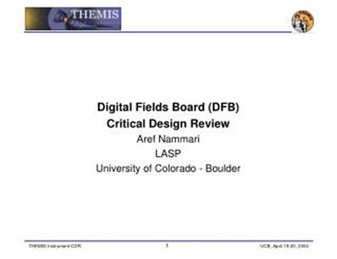 Critical review of presentation